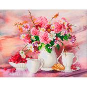 "Romantic Tea Time - Diamond Dotz Diamond Embroidery Facet Art Kit 31.5""X25"""