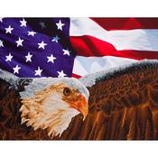 "Bald Eagle & Flag - Diamond Dotz Diamond Embroidery Facet Art Kit 25.5""X35.5"""