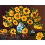 "Sunflowers - Diamond Dotz Diamond Embroidery Facet Art Kit 25.25""X31.5"""