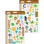 At The Zoo Mini Icons Sticker Sheets - Doodlebug