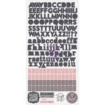 Rose Quartz Alphabet Stickers