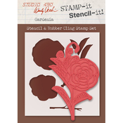 "Gardenia - Studio 490 Stamp It Stencil It 7""X8.5"""