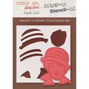 """Paper Doll - Studio 490 Stamp It Stencil It 7""""X8.5"""""""