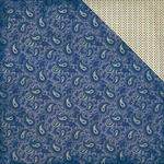 """#4 Navy & Antique Paisley/Mini Dot - Rugged Double-Sided Cardstock 12""""X12"""""""