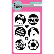 """Easter Icon - Pink & Main Clear Stamps 4""""X6"""""""