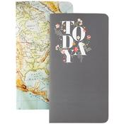 "Undated Calendars W/80 Sheets - Color Crush Traveler's Planner Notebooks 8.25""X4.25"" 2/Pkg"