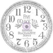 "Clock, 12"" - Iron Orchid Designs Decor Transfer Rub-Ons"