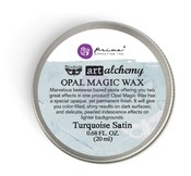 Turquoise Satin - Finnabair Art Alchemy Opal Magic Wax