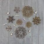 Vintage Snowflakes - Finnabair Mechanicals Metal Embellishments