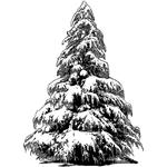 """Large Christmas Tree - Crafty Individuals Unmounted Rubber Stamp 2.75""""X3.75"""""""