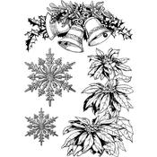 "Festively Ornamental - Crafty Individuals Unmounted Rubber Stamp 3.75""X5.5"" Pkg"