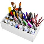 "5.55""X12.125""X5.75"" White - ArtBin Paint Storage Tray"