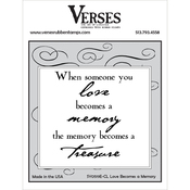 """Love Becomes A Memory - Verses Cling Stamp 4.5""""X6.5"""""""