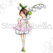 """Garden Girl Lily Of The Valley - Stamping Bella Cling Stamp 6.5""""X4.5"""""""