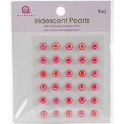 Red - Iridescent Pearls 30/Pkg
