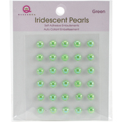 Green - Iridescent Pearls 30/Pkg