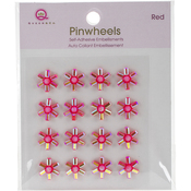 Red Self-Adhesive Pinwheels