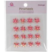 Orange Self-Adhesive Pinwheels