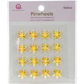 Yellow Self-Adhesive Pinwheels
