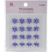 Purple Self-Adhesive Pinwheels
