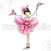 """Garden Girl Orchid - Stamping Bella Cling Stamp 6.5""""X4.5"""""""