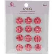 Red Self-Adhesive Lollies