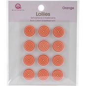 Orange Self-Adhesive Lollies