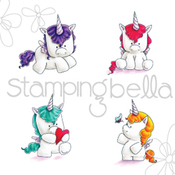 "Set Of Unicorns - Stamping Bella Cling Stamp 6.5""X4.5"""