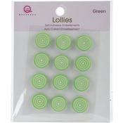 Green Self-Adhesive Lollies