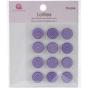Purple Self-Adhesive Lollies
