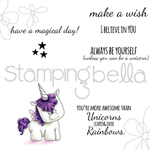 "Unicorn Sentiments - Stamping Bella Cling Stamp 6.5""X4.5"""