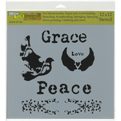"Peace Doves - Crafter's Workshop Template 12""X12"""