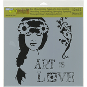 "Art Is Love - Crafter's Workshop Template 12""X12"""