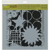 "Star & Flower - Crafter's Workshop Template 12""X12"""