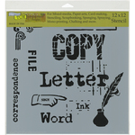 """Corespondence - Crafter's Workshop Template 12""""X12"""""""