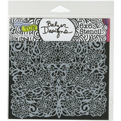 "Flower Tangle - Crafter's Workshop Template 6""X6"""