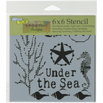 """Under The Sea - Crafter's Workshop Template 6""""X6"""""""