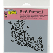 """Butterfly Trail - Crafter's Workshop Template 6""""X6"""""""