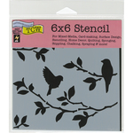 """Birds On Branches - Crafter's Workshop Template 6""""X6"""""""