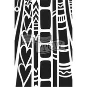 """Hearts - Crafter's Workshop Journaling Stencils 6""""X9"""""""