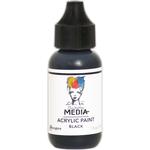 Black - Dina Wakley Media Heavy Body Acrylic Paint 1oz