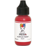 Ruby - Dina Wakley Media Heavy Body Acrylic Paint 1oz