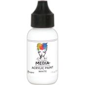 White - Dina Wakley Media Heavy Body Acrylic Paint 1oz
