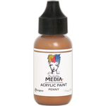 Penny - Dina Wakley Media Heavy Body Metallic Acrylic Paint 1oz