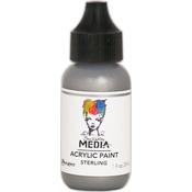 Sterling - Dina Wakley Media Heavy Body Metallic Acrylic Paint 1oz