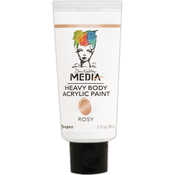 Rosy - Dina Wakley Media Heavy Body Metallic Acrylic Paint