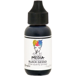 Black - Dina Wakley Media Gesso 1oz Tube