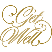 Get Well - Anna Griffin Hotfoil Stamp Plates