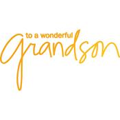 Wonderful Grandson - Sweet Sentiments Hotfoil Stamp Plate