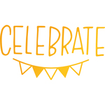 Celebrate Bunting - Sweet Sentiments Hotfoil Stamp Plates